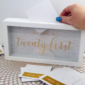 * TWENTY FIRST * Message Box Twenty One 21st  Splosh