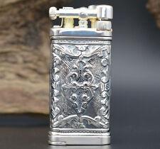 Sillems ITT IM Corona Old Boy Lea Puro 925 Sterling-Silber Pfeifen Feuerzeug
