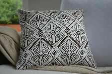 Brown Aztec Cushion Cover Throw Pillow Case Home Decor 100% Cotton 45cm Kibui