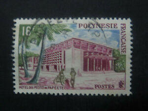 French Colonies - French Polynesia  16F Papeete Post Office 1958 - High CV