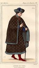COSTUME DE LA FRANCE XVe siècle / Antoine de Vergi, Comte de Damartin