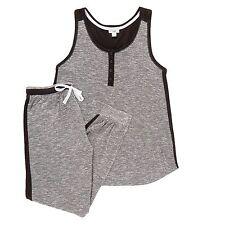 Layla Tank & Jogger Lounge Set Pajama Set Grey Heather Large NEW