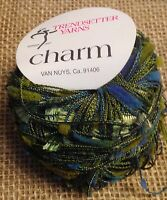 One Skein Trendsetter Yarn CHARM 20gr 86m Color 1480 Green Teal Made in Italy