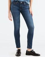 Levis Jeans 711 Mid Rise Skinny Jeans Dark Wash 25X32 188810293