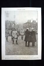 Accolade de Metz Poincaré Clemenceau Petain Pershing WW1 Guerra 1914 - 1918