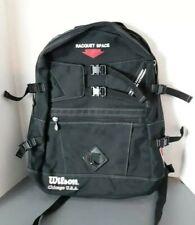 Vintage Wilson Chicago USA Racquet Backpack Bag Black