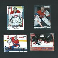 CAREY PRICE 4 CARD LOT with FACSIMILE AUTOGRAPH
