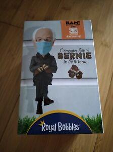 Royal Bobbles Computer Sittin' Bernie Sanders in Mittens LE Exclusive Bobblehead
