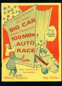 18th BIG CAR NATIONAL CHAMPIONSHIP 100 MILE AUTO RACE PROGRAM 9/29/68 SACRAMENTO