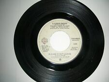 Lauren Wood - Please Don't Leave / Where Did I Get... 45 Warner Brothers NM 1979