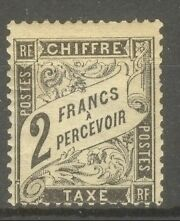 """FRANCE STAMP TIMBRE TAXE N° 23 """" TYPE DUVAL 2F NOIR """" NEUF x TB"""