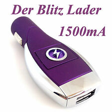 Universal USB Lader Ladegerät Ladeadapter Zigarettenanzünder Auto KFZ Handy L
