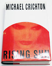 Rising Sun by Michael Crichton SIGNED Hardcover in VERY GOOD Condition