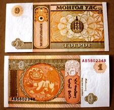 MONGOLIA @1 UNC NOTES@(1 tugrik)