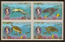 COOK ISLANDS 2007 TURTLES $3 BLOCK of 4 different MNH