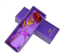 Mothers Day Gift Luxury Gold Plated Rose Flower Dipped In 24K in Gift Box