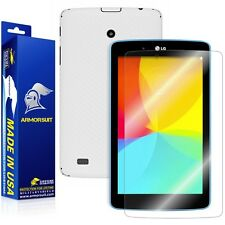 ArmorSuit MilitaryShield LG G Pad 7.0 Screen Protector + White Carbon Fiber Skin