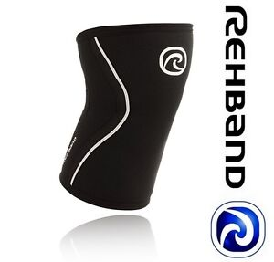 NEW CrossFIT Knee Support Rehband 105206-03 Rx Black/Silver Weightlifting | 3mm