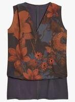 New Ex NEXT Grey Wrap Sleeveless Step Hem Blouse Top Size 12 - 22 Floral