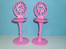 %***Barbie Möbel, Barhocker, Barstühle, Hochstühle in rose***%