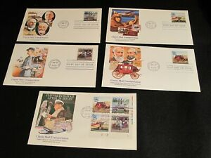 #2434-37 + Plate Blk. on 5 Fleetwood FDC's