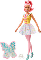 Barbie Dreamtopia Fairy Doll, Approx 12-Inch, with A Colorful Candy Theme, Pink