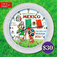 CIBERMONDAY clock RUSIA 2018 MUNDIAL DE FUTBOL SELECCION DE MEXICO reloj soccer