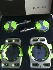 NEW Speedplay Zero Titanium Pedals and Cleat Set Road Bike ---Green