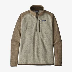 $119 NEW PATAGONIA Heather Khaki Brown 1/4-Zip Pullover Better Sweater Fleece L