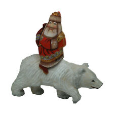 Amazing Hand Carved and Painted Wooden Santa - Arctic Express