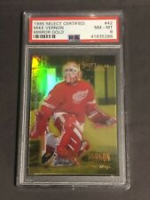 1995-96 Select Certified Mirror Gold #42 Mike Vernon PSA