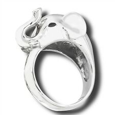 Stainless Steel Lucky Elephant Ring Size 8