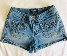 Angels Jean Shorts Womens Juniors 7 Side Slits short shorts 28 In Waist