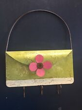 Decorative Wall Hanger Metal Flower Key Scarf Hooks Holder Colorful Painted