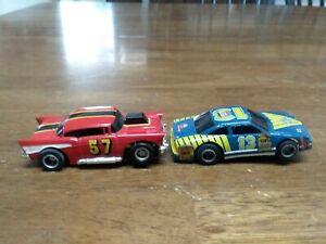 2 Vintage Tyco HO Slot Cars 57 Chevy And Nascar