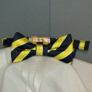 """Boy's Pre-Tied GYMBOREE Yellow & Black Striped Young Adult 2"""" Bow Tie bt-42"""