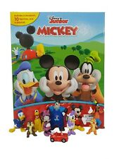 New Disney MICKEY MOUSE CLUB HOUSE My Busy Book, Map, 10 Figures