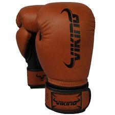 Viking Norse King Boxing Gloves - Vintage Brown/Black 16oz