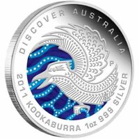 2011 Discover Australia, 1oz Silver Proof Coin, The Dreaming Series, Kookaburra