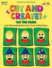 Cut and Create! On the Farm (Reproducible Book)-ExLibrary