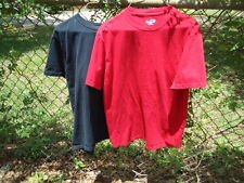 (2) Pieces Solid Red & Black Unisex T-Shirts Adult Size Small