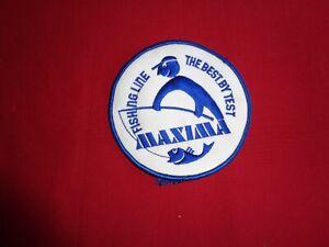 Vintage Maxima Line Cloth Fishing Tackle Badge.
