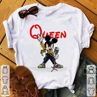 Mickey Freddie Mercury Queen Shirt full size for men women