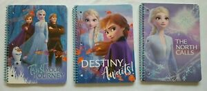 Disney Frozen II Notebook (SET OF 3) One Of Each 80 Wide Ruled Sheets Each