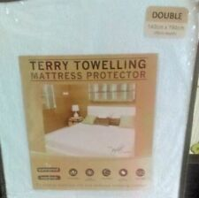 Waterproof Terry Towelling Mattress Protector Cover Fitted Size DOUBLE  NEW