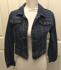 Girls Denim Blue Jean Jacket Size Large 10 12 Country Fall Cherokee