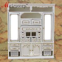 Dollhouse 1/12 scale miniature furniture High quality handmade gilt Main cabinet