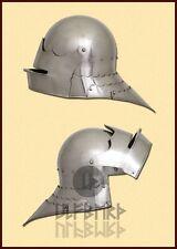 Gotischer Schaller L Helm Rüstung Mittelalter Reenactment LARP Schaukampf