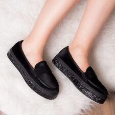 Spylovebuy Carlie Mocasín Zapatos planos de plataforma de brillo