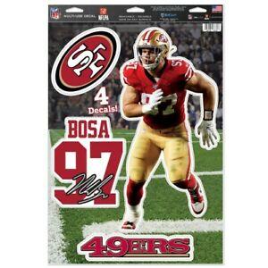 "NICK BOSA SAN FRANCISCO 49ERS MULTI-USE DECALS 11""X17"" LIKE A FATHEAD"
